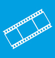 film with frames icon white vector image vector image