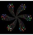 Fireworks Star Flower vector image