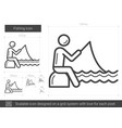 fishing line icon vector image vector image