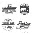 fishing sport club vector image