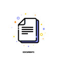 flat icon of documents for office work concept vector image