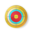 gold color target luxury circle frame on white vector image vector image