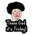 happy man friday vector image