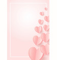 happy wedding postcard with love symbol paper art vector image vector image