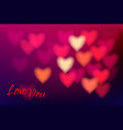 heart shape bokeh light background love you dark vector image vector image