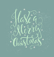 Holiday Lettering vector image vector image