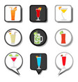 icon for set symbols summer cocktail vector image vector image