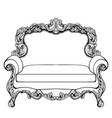 imperial baroque couch with luxurious ornaments vector image vector image