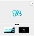 initial b bb or bi concept logo template free vector image vector image