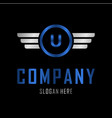 letter u automotive creative business logo vector image vector image