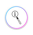 magnifying glass and information icon isolated on vector image