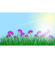 Meadow color background vector image