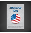 Memorial day poster vector image vector image