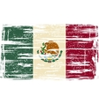 Mexican grunge flag vector image