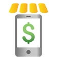 Mobile Store Gradient Icon vector image