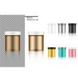 mock up realistic medicine jar or cosmetic set vector image vector image