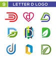 modern letter d logo template vector image vector image