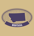 Montana map silhouette - oval stamp vector image vector image