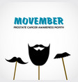 movember prostate cancer awareness month vector image