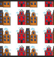 netherlands or holland town houses traditional vector image