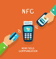 nfc payment vector image vector image