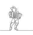 oktoberfest man with beer vector image vector image