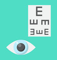 optometry flat icon medicine and healthcare vector image