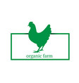organic farm premium chicken logo labels badges vector image vector image