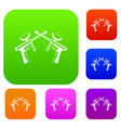 paintball guns set collection vector image vector image