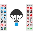Parachute Icon vector image vector image