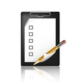 pencil and a blank board vector image vector image