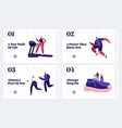 people training in sportswear and sneakers vector image vector image