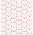 Pink seamless pattern with hearts vector image
