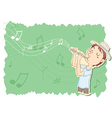 playing flute vector image