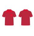 red men polo shirt vector image
