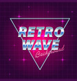 retro futuristic background vector image vector image