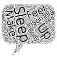 Say Goodnight to Insomnia text background vector image
