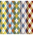 Scottish patterns set vector image