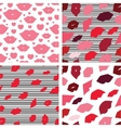 Seamless with lips or kiss vector image vector image