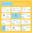 set of 12 website creative busienss card template vector image vector image