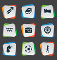 set of simple baby icons vector image vector image