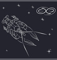 sign of the zodiac cancer is the starry sky vector image vector image