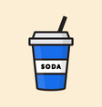 Soda in a Cup Icon vector image vector image