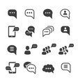 speech message talk text bubble icons set vector image vector image
