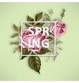 Spring vintage vector image