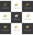 Star logo set vector image