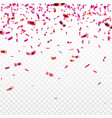 stock pink confetti isolated vector image vector image