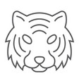 tiger thin line icon animal and zoo cat sign vector image vector image