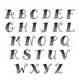 vintage alphabet black vector image vector image