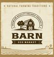 vintage barn label vector image vector image